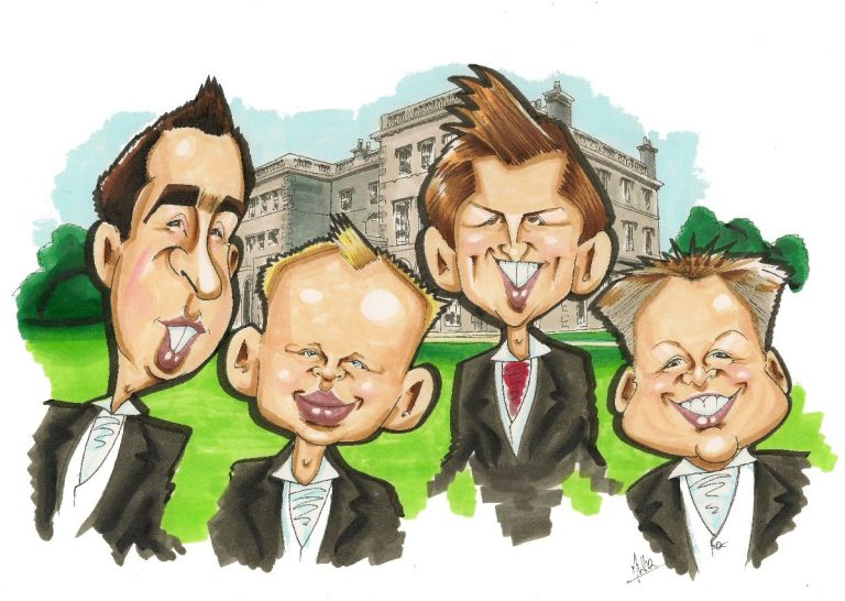 Caricatures and Cartoons by Mick Wright.