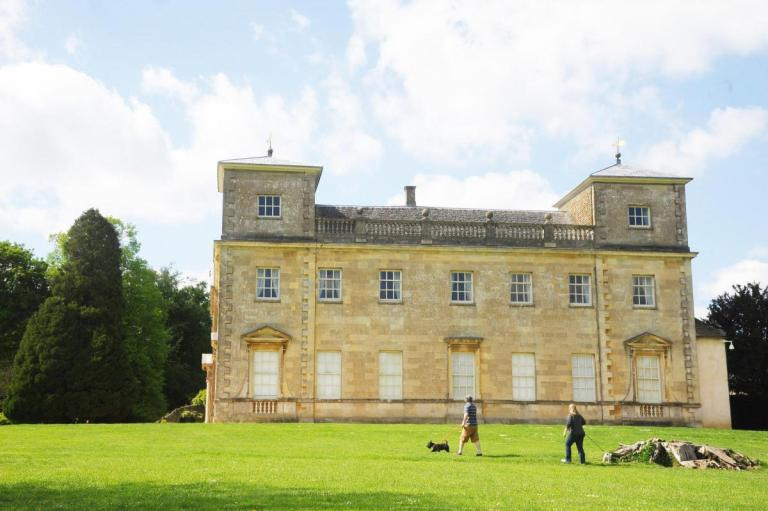 The glorious Palladian mansion itself.