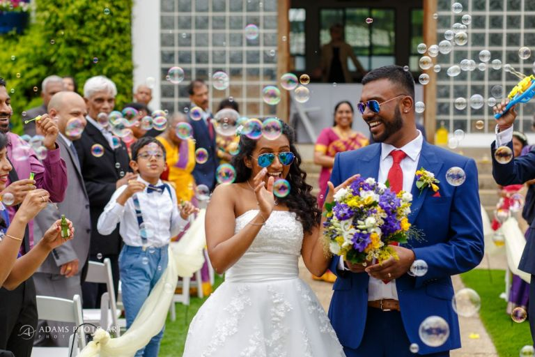 We love the bright colours and sunny style of this wedding.