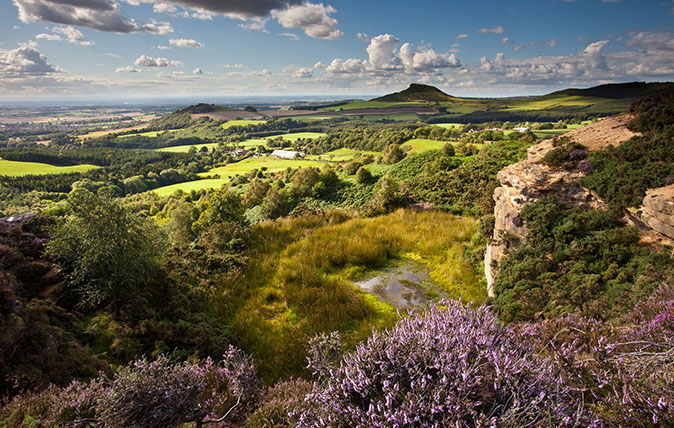 The purple touches of the North York Moors.