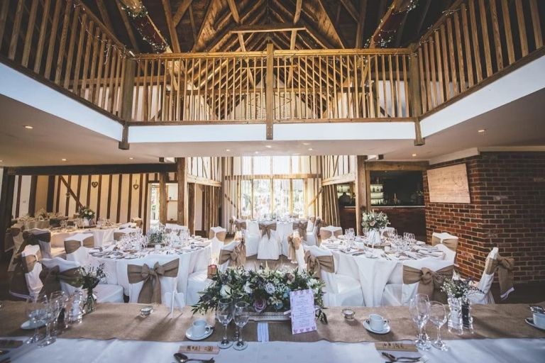 The interiors are ideal for rustic weddings.