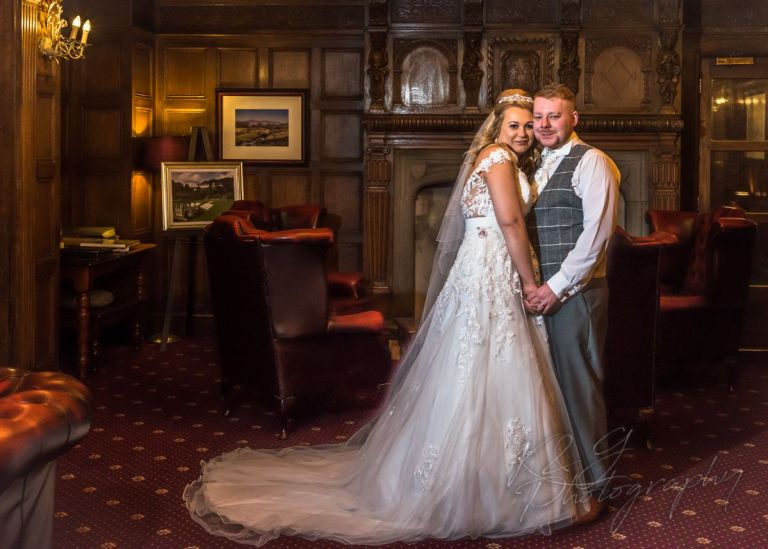Holly and Kyle married at the Higher Trapp Hotel in Simonstone.