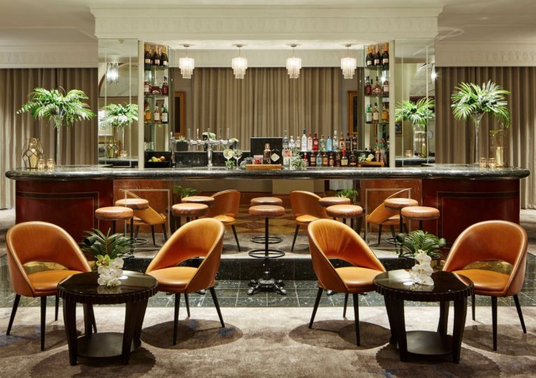 Despite its old feel and grandeur, the interiors are surprisingly modern and beautifully decorated. We love the art deco bar!