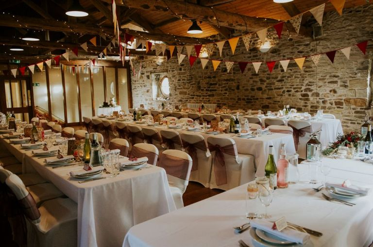 It features a rustic barn feel and they decorated it beautifully.