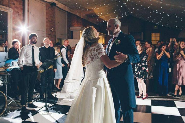 Laura and Dan dancing the night away!