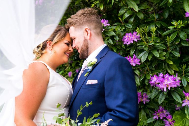 This beautiful couple Charlotte and Jake married in Melksham Court in Stinchcombe.