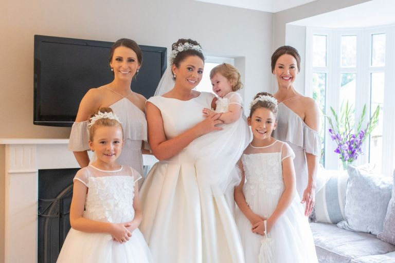 The beautiful bride and her bridesmaids!