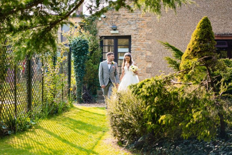 The gardens here are beautiful, ideal for wedding photographs.