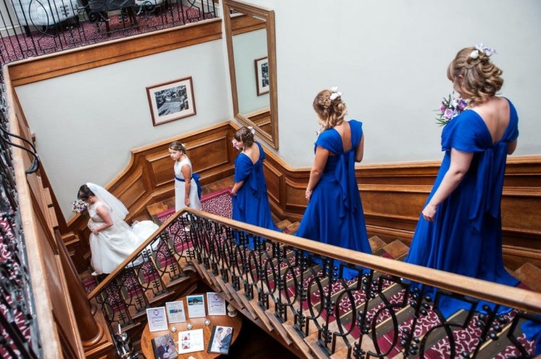 We love the sweeping staircase at this venue.