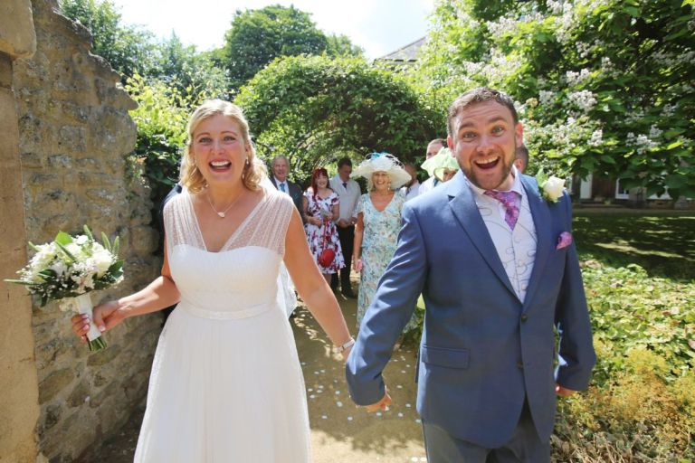 The weather looked fantastic for the couple on their big day!