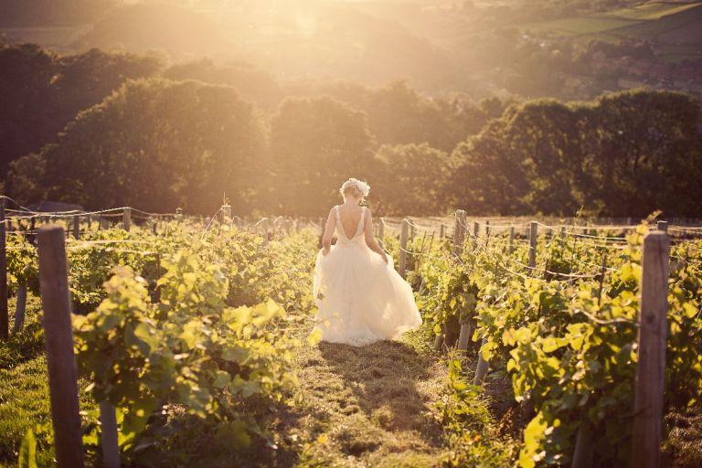 Who'd have thought you could run through a vineyard in Huddersfield for your wedding day!