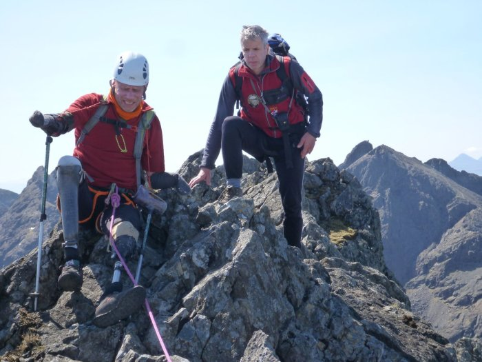 Jamie being guided along the Cuillin Ridge, 212 kb