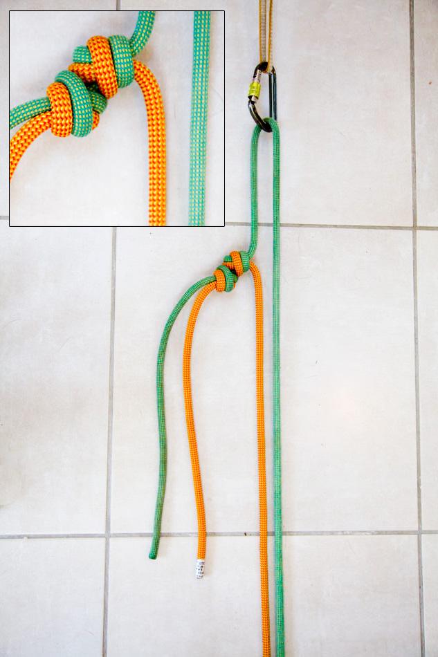 Double overhand knot © Jack Geldard