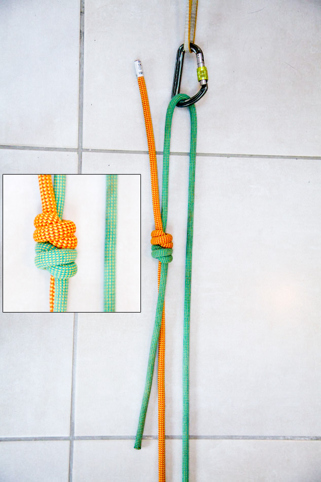 Double fisherman's knot © Jack Geldard
