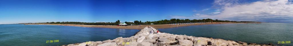 Ca' Savio - looking back at the beach