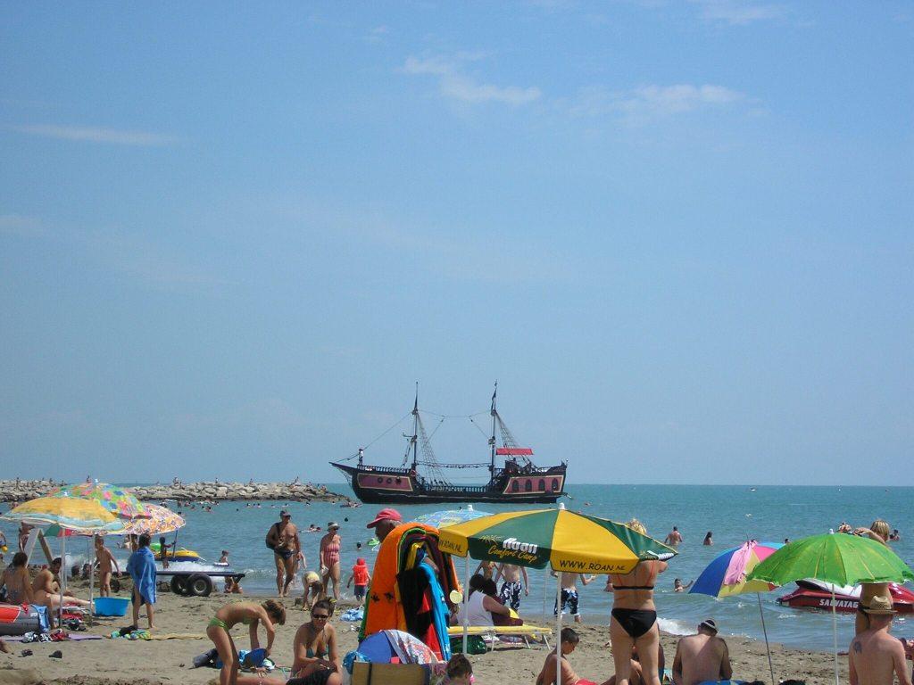 A pirate boat in the Sdriatic Sea