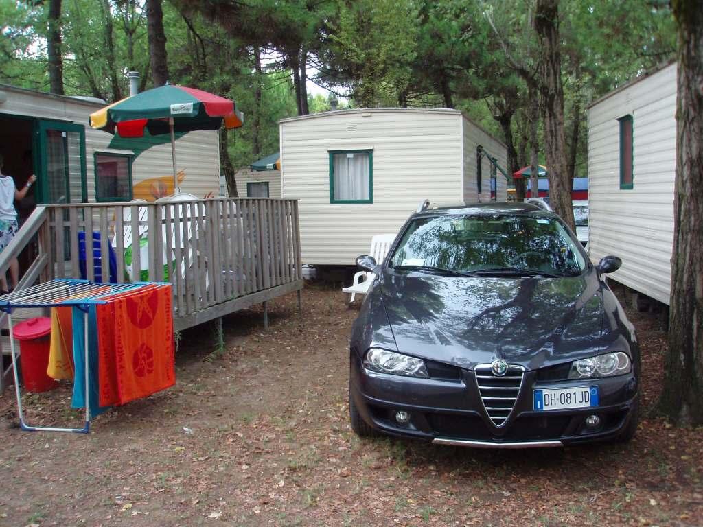 Ca' Savio a typical caravan pitch