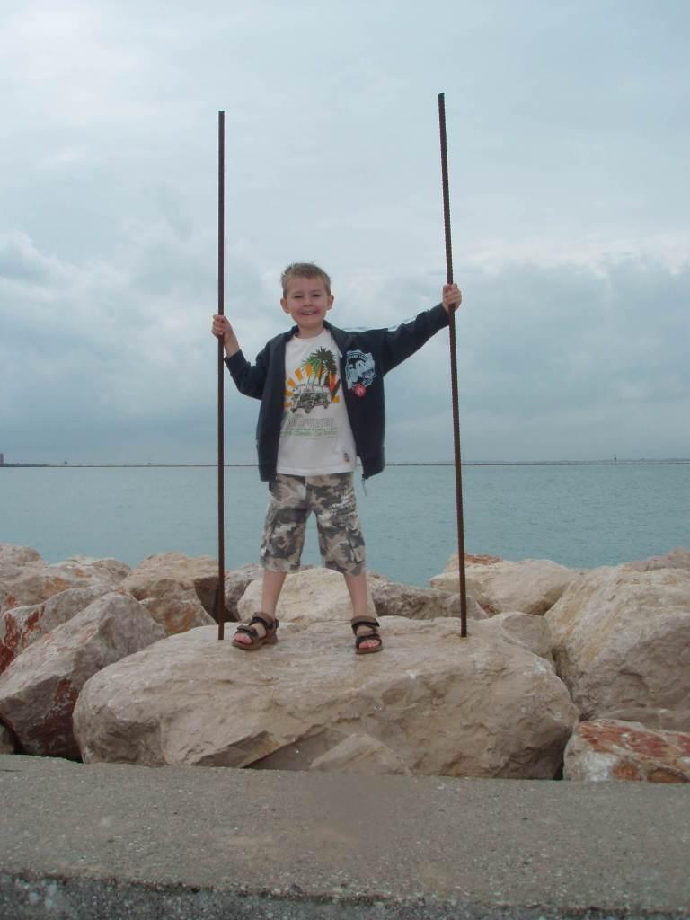 Ca' Savio - a boy having fun