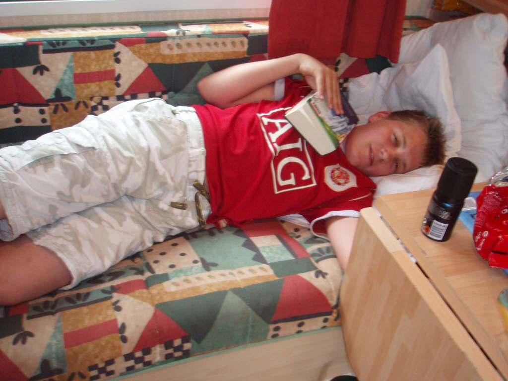 Ca' Savio - a boy relaxing