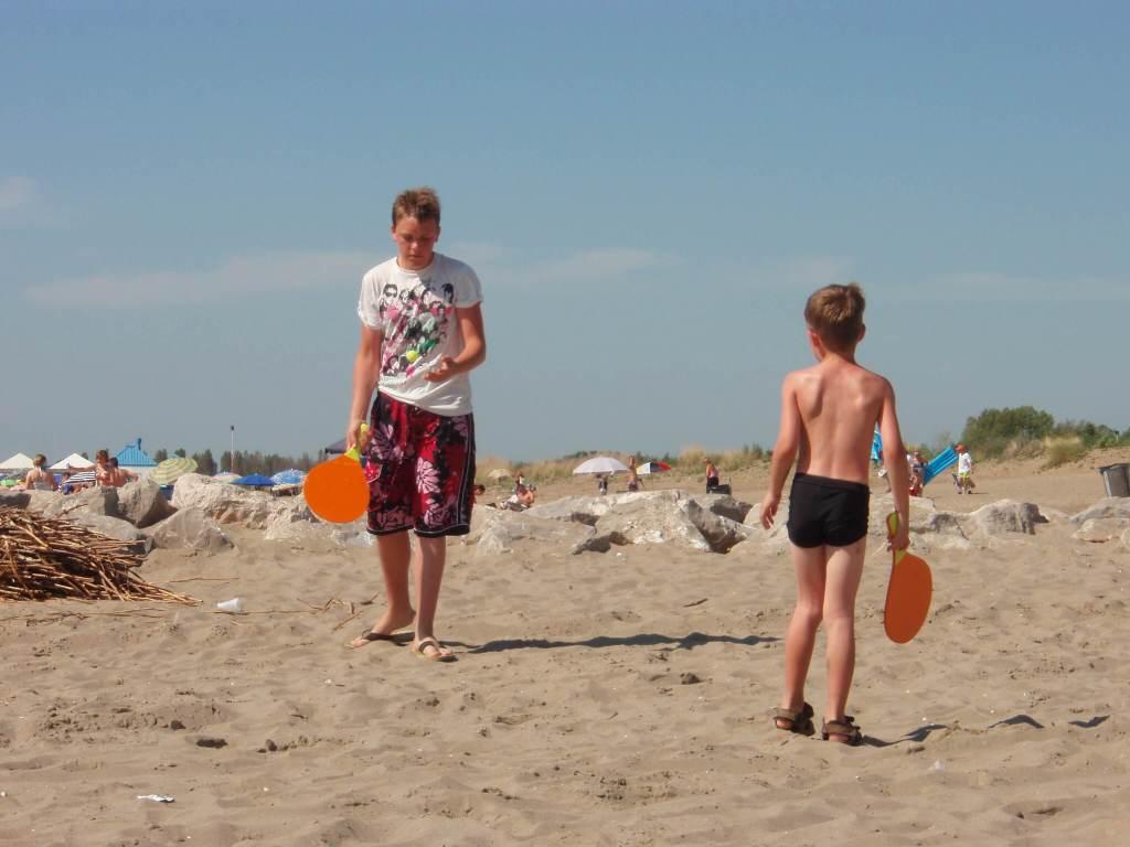 Ca' Savio - playing on the beach