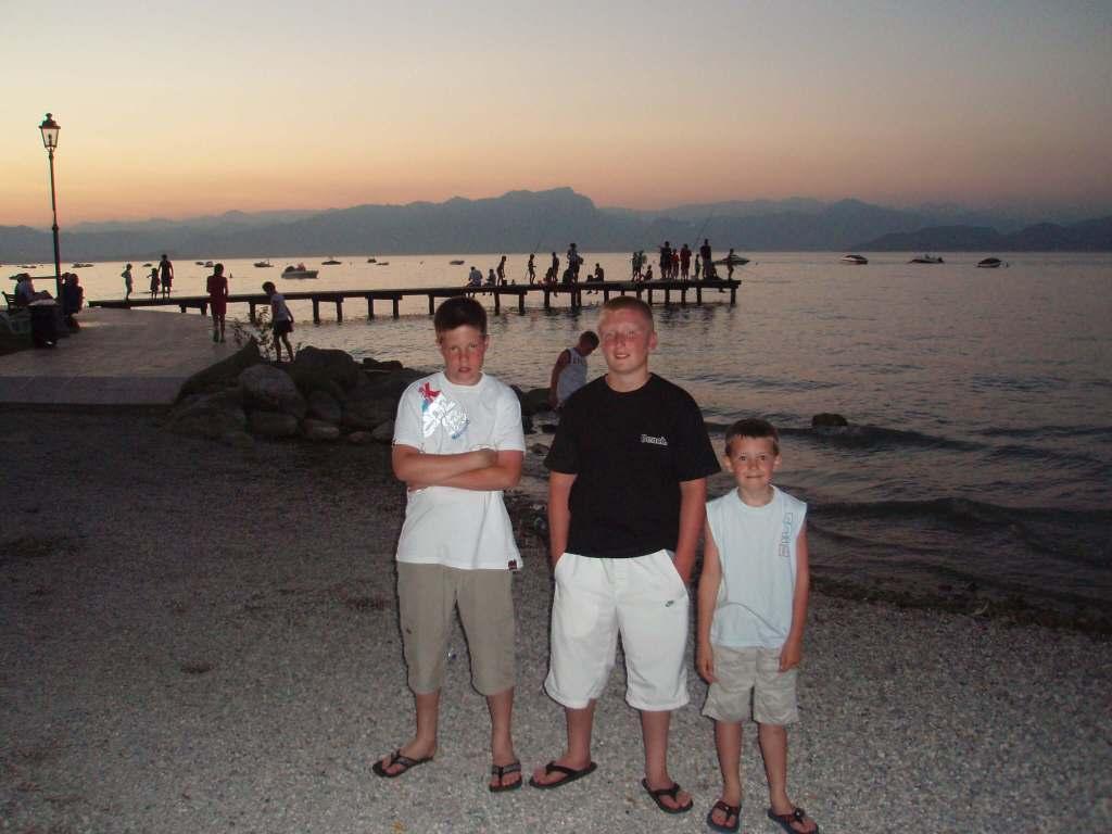 3 boys at Lake Garda