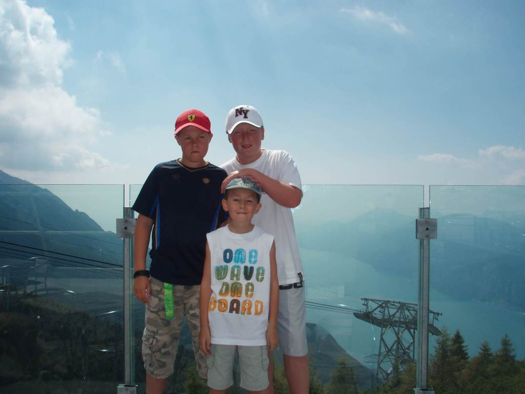 three boys at Monte Baldo