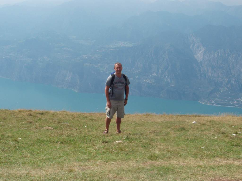 over the top of Lake Garda on Monte Baldo