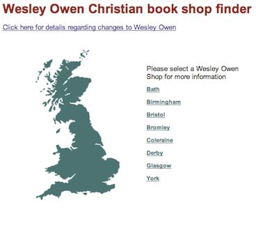 Wesley Owen Store Finder Today