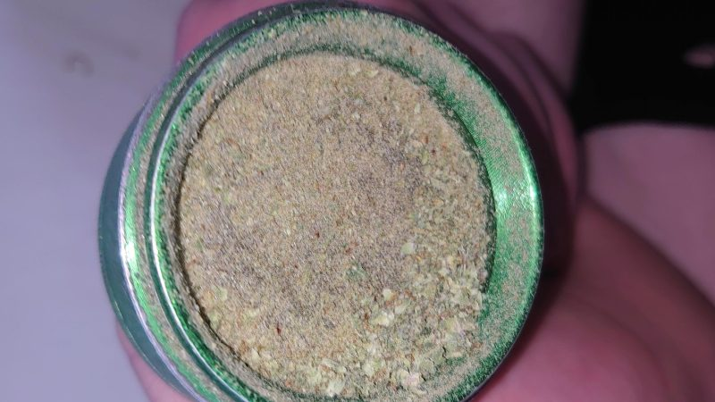 residue in a grinder
