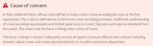 West Midlands police report