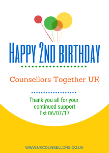 Happy Birthday Counsellors Together UK