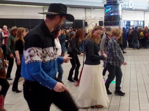 Line-dance crasher Judi.