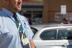 uniformed UKCPS parking warden