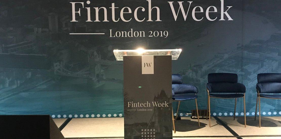 London Fintech Week 2019 Lecturn