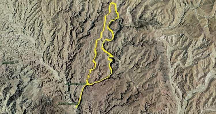 Hiking Ladder Canyon-Big Painted Canyon Loop