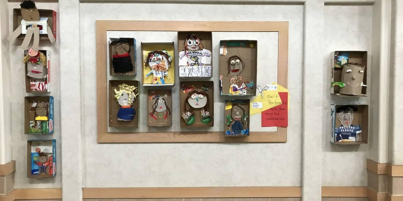 Hallways Showcase Student Art in DSUSD