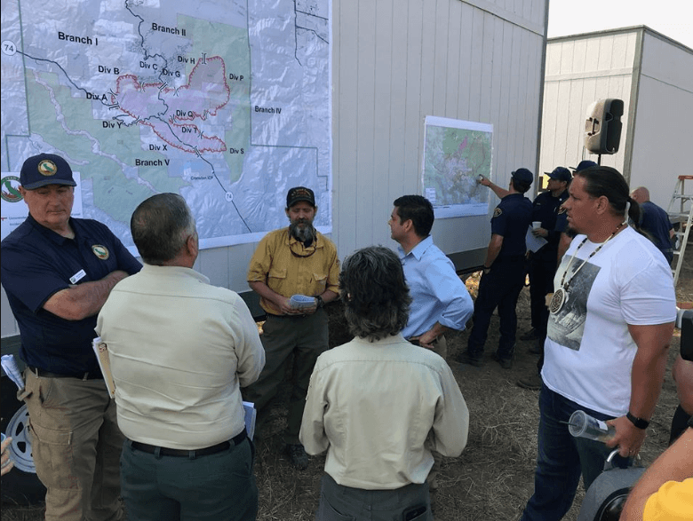 Ruiz Travels to Cranston Fire, Offers Assistance