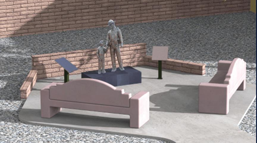Fallen Officer Memorial Dedication Set