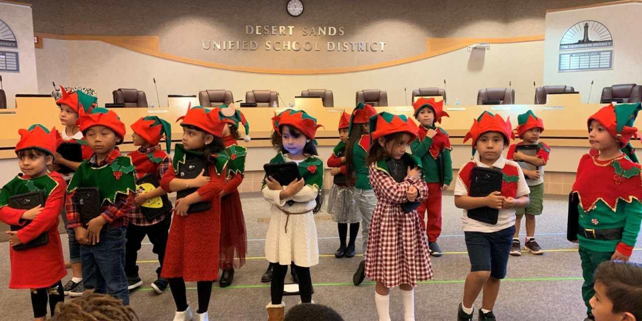 Kindergartners Give School Board Digital Lessons