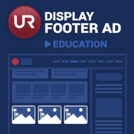 Display Education Section Footer Ads