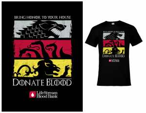 Donate Blood, Get a Game of Thrones T-Shirt