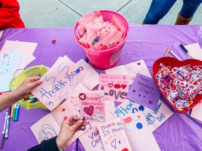 Pupils Create Valentines for Hospitalized Veterans