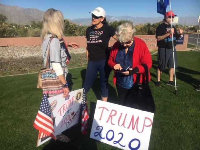Trump Greeted in Valley with Cheers, Jeers