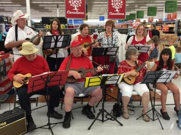 Busking for the Canadian Red Cross at Walmart London Argyle 2017