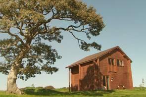 Bluestone timber lodge