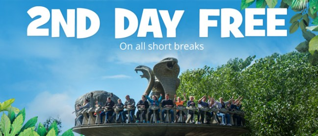 Get exclusive 2 for the price 1 days on Chessington Resort