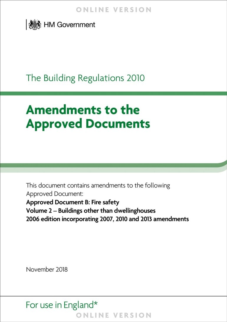 Approved Document B is the core fire-safety document underpinning our industry.