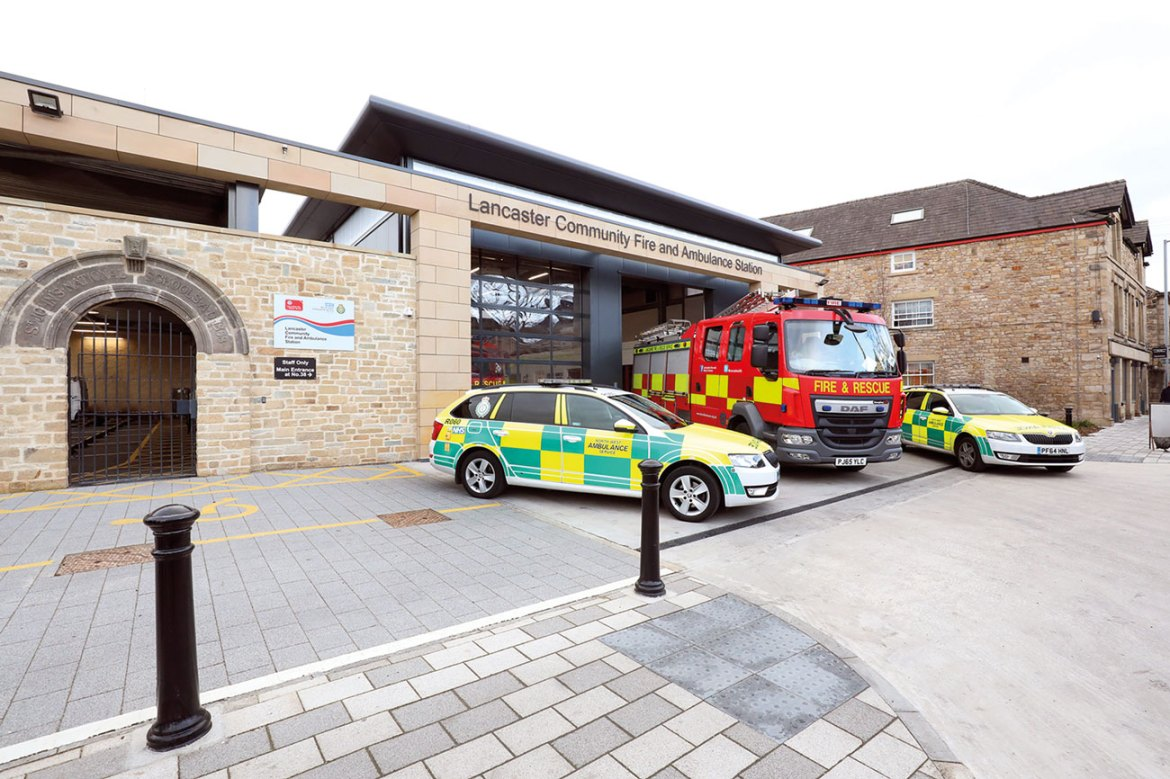Lancaster's new community fire and ambulance station.