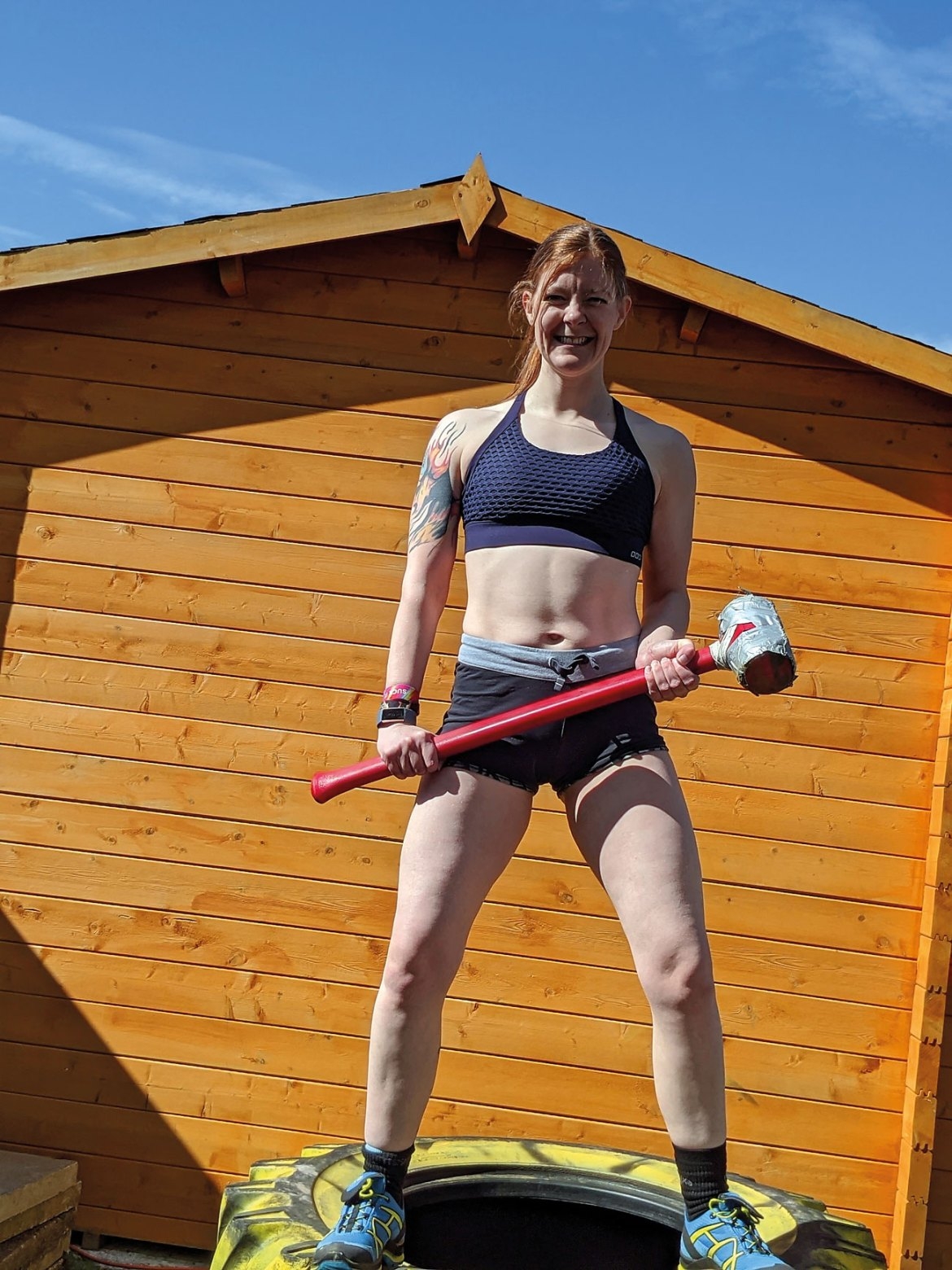 The Covid-19 lockdown didn't stop Bec from pushing herself – she's still been competing in challenges even while at home.