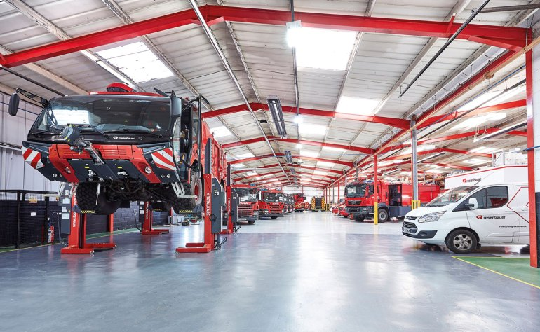 The Rosenbauer UK service centre provides a full service for vehicles and auxiliary equipment.